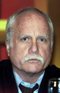 Richard Dreyfuss at a press conference announcing partnership between The History Channel and NYC Department of Education.