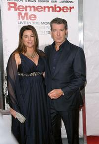 Keely Shaye Smith and Pierce Brosnan at the New York premiere of