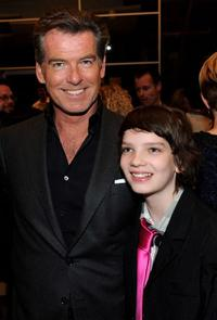 Pierce Brosnan and Kodi Smit-McPhee at the after party of the California premiere of
