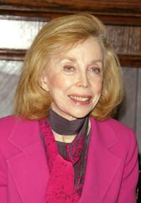 Joyce Brothers at the 40th Anniversary of the Beatles coming to America media conference.