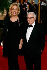Sharon Stone and Dominick Dunne at the 64th Annual Golden Globe Awards.