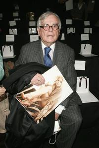 Dominick Dunne at the Carolina Herrera Fall 2006 fashion show during the Olympus Fashion Week.