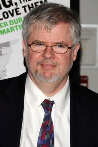 Christopher Durang at the Off-Broadway opening night of