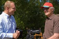 Francois Pienaar and Director Clint Eastwood on the set of
