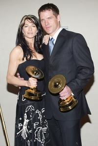 Claudia Black and Ben Browder at the 31st Annual Saturn Awards.
