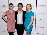 Julianne Moore, Atom Egoyan and Amanda Seyfried at the premiere of