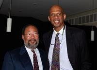 Richard D. Parsons and Kareem Abdul-Jabbar at the premiere of