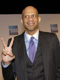 Kareem Abdul Jabbar attends A Tribute to Magic Johnson - The official tip-off to NBA All-Star 2004 Entertainment.