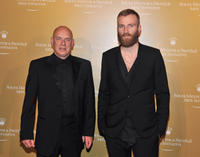 Brian Eno and Ben Frost at the 2011 Rolex Mentor and Protege Arts Initiative in New York.