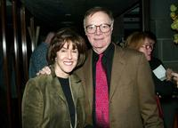 Nora Ephron and Nick Pileggi at the premiere screening of
