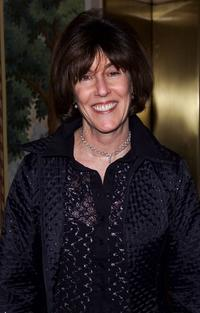 Nora Ephron at the dinner party for the private screening of