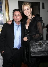Emilio Estevez and Sharon Stone at the after party of the screening of