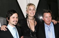 Freddy Rodriguez, Sharon Stone and Emilio Estevez at the after party of the screening of