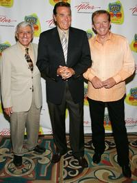 Jamie Farr, Chuck Woolery and Bob Eubanks at the American TV Game Show Hall of Fame induction ceremony.