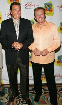 Chuck Woolery and Bob Eubanks at the American TV Game Show Hall of Fame induction ceremony.