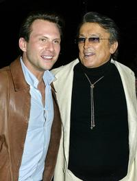 Robert Evans and Christian Slater at the world premiere of