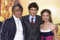 Robert Evans, James Franco and guest at the premiere of
