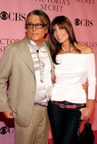 Robert Evans and Lady Victoria White at the Victorias Secret Fashion Show.