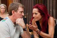 Writer/producer/director Michael Patrick King and Patricia Field on the set of