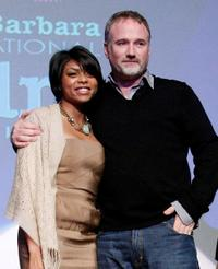 Taraji Henson and David Fincher at the 24th Santa Barbara International Film Festival.