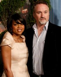 Taraji P. Henson and David Fincher at the 2009 Oscar Nominees Luncheon.