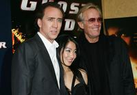 Peter Fonda, Nicolas Cage and his wife Alice Kim at the premiere of