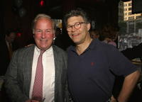 Jim Dean and Al Franken at the Coctail Reception Hosted By Ceslie Armstrong for Richard Morrison.