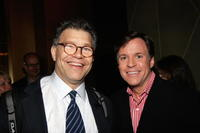 Al Franken and Bob Costas at the screening of