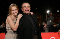 Elena Bouryka and Nino Frassica at the premiere of