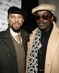 Common and Fab Five Freddy at the launch of Common's hat line Soji at La Coppola Storta.