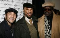 Jeremy Piven, Common and Fab Five Freddy at the launch of Common's hat line Soji at La Coppola Storta.