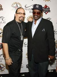 Ice-T and Fab Five Freddy at the grand opening of Mario Barth's Starlight Tattoo.