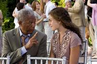 Morgan Freeman and Alexa Davalos in