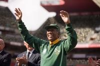 Morgan Freeman as Nelson Mandela in