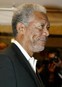 Actor Morgan Freeman at the Toronto screening for