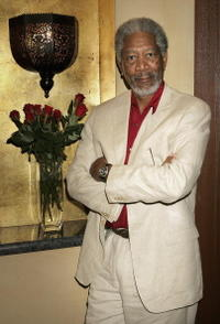 Actor Morgan Freeman at the Dubai International Film Festival.