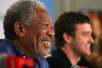 Actor Morgan Freeman at the press conference of