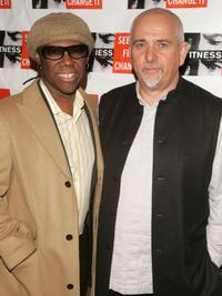 Nile Rodgers and Peter Gabriel at the second Annual gala dinner and concert to benefit the international human rights group.