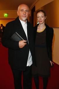 Peter Gabriel and his wife Meabh at the Quadriga Awards 2008.