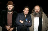 Vincent Gallo, director Brett Ratner and producer Rick Rubin at the V-Life Oscar party.
