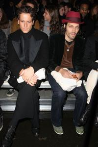 Ioan Gruffudd and Vincent Gallo at the Mercedes-Benz Fashion Week Fall 2008.