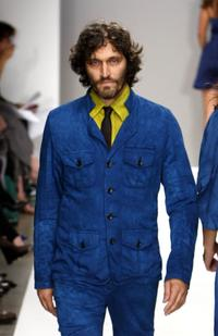 Vincent Gallo at the Mercedes Benz Fashion Week.
