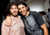 Vincent Gallo and Ali Alborzi at the Mercedes Benz Fashion Week.