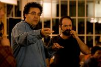 Rodrigo Garcia and Xavier Perez Grobet on the set of