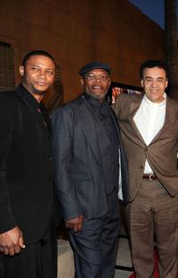David Ramsey, Samuel L. Jackson and Rodrigo Garcia at the premiere of