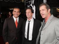 Mel Gibson, Brian Grazer and Antonio Villaraigosa at the industry screening of