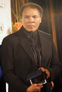 Muhammad Ali at the Otto Hahn Peace award presentation.