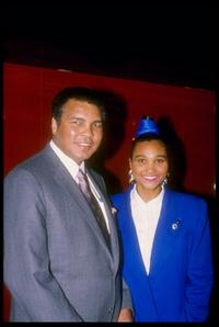 1990 File photo of Muhammad Ali and Maymay Ali.