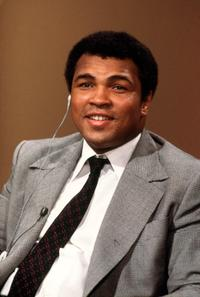 Muhammad Ali at a French TV Interview.