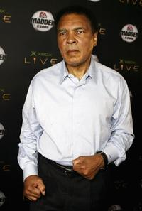 Muhammad Ali at the launch party of Xbox Live Madden NFL 2005.